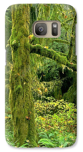 Galaxy Case featuring the photograph Moss Draped Big Leaf Maple California by Dave Welling