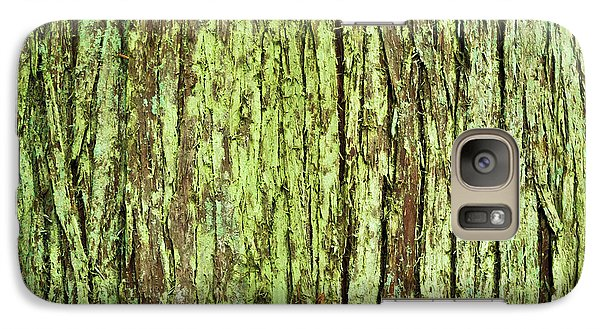 Galaxy Case featuring the photograph Moss On Tree Bark by Crystal Hoeveler