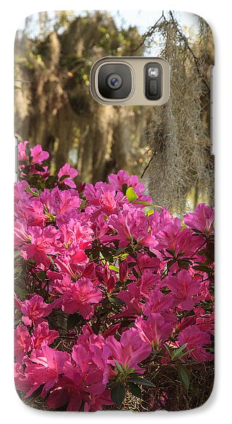 Galaxy Case featuring the photograph Moss Over Azaleas by Patricia Schaefer