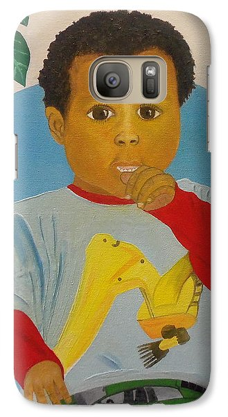 Galaxy Case featuring the painting Mossiah My Grandson by Nicole Jean-Louis