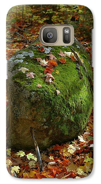Galaxy Case featuring the photograph Mossy Rock by Sandra Updyke