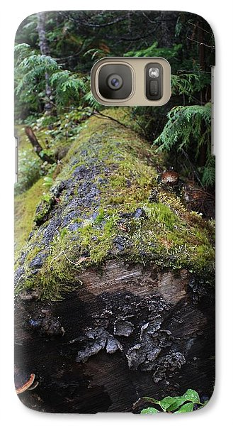 Galaxy Case featuring the photograph Mossy Tree Trunk by Amanda Holmes Tzafrir
