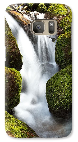 Galaxy Case featuring the photograph Mossy Water by Steven Reed