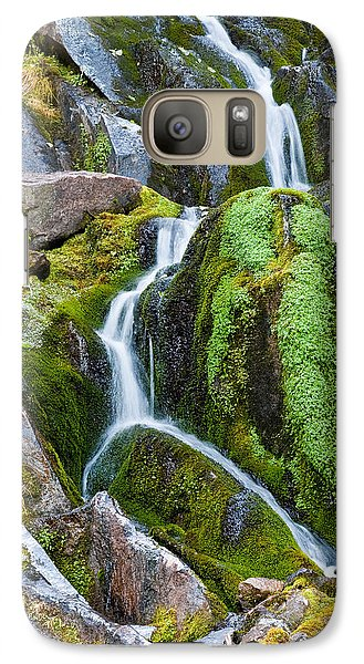 Galaxy Case featuring the photograph Mossy Waterfall At Snow Lake by Jeff Goulden