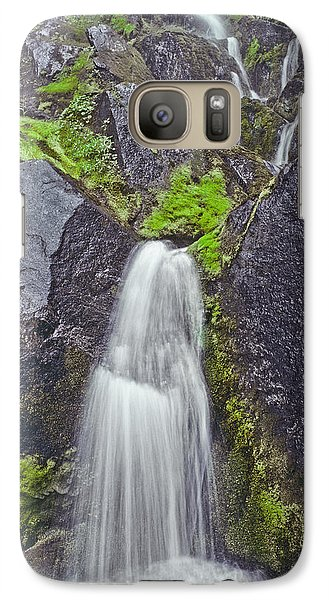 Galaxy Case featuring the photograph Mossy Waterfall by Jeff Goulden