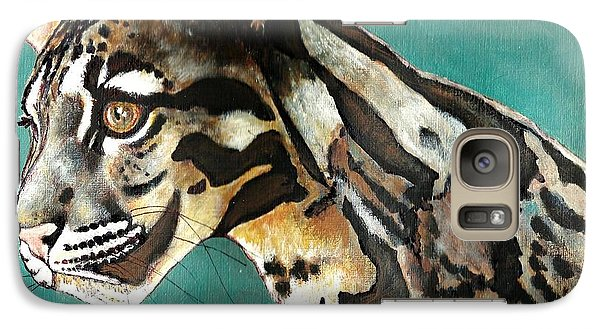 Galaxy Case featuring the painting Most Elegant Leopard by VLee Watson