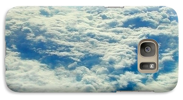 Galaxy Case featuring the photograph Mostly Cloudy by Mark Greenberg