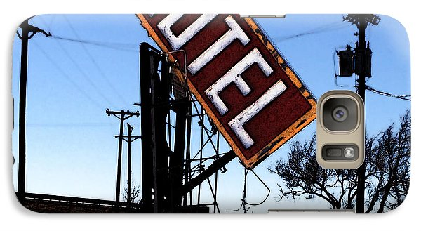Galaxy Case featuring the digital art Motel - Route 66 by David Blank