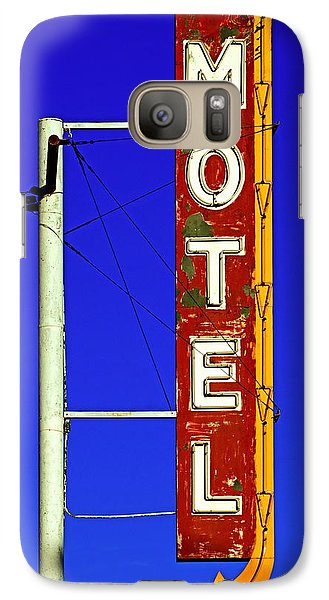 Galaxy Case featuring the photograph Motel Sign On Route 66 by Daniel Woodrum