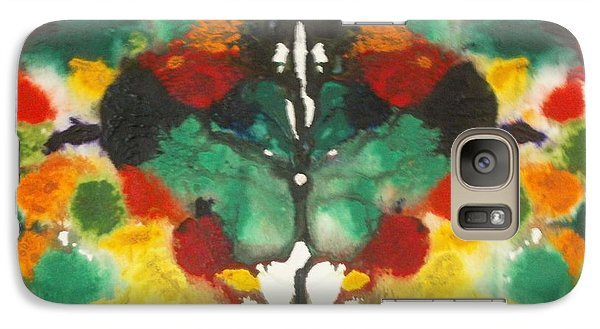 Galaxy Case featuring the painting Moth by Thomasina Durkay