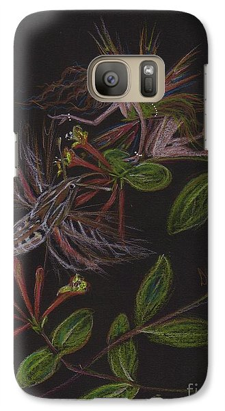 Galaxy Case featuring the drawing Moth Wing Touch by Dawn Fairies