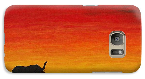 Galaxy Case featuring the painting Mother Africa 1 by Michael Cross