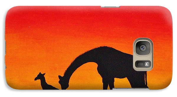 Galaxy Case featuring the painting Mother Africa 2 by Michael Cross