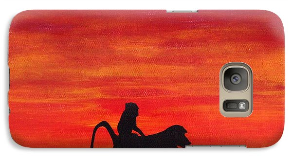 Galaxy Case featuring the painting Mother Africa 4 by Michael Cross