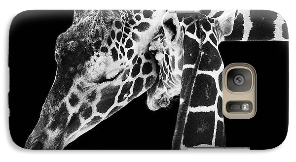 Mother And Baby Giraffe Galaxy S7 Case