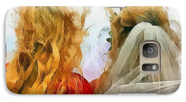Galaxy Case featuring the digital art Mother And Bride by Carrie OBrien Sibley