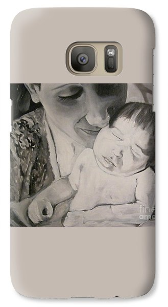 Galaxy Case featuring the painting Mother And Child by Carrie Maurer