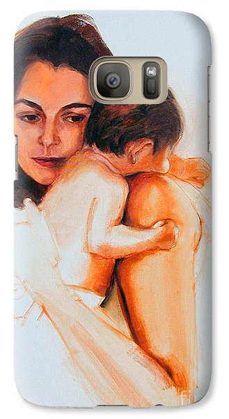 Galaxy Case featuring the painting Mother And Child by Greta Corens