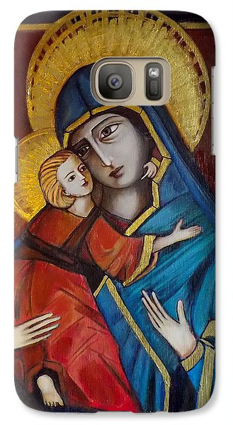 Galaxy Case featuring the painting Mother And Child by Irena Mohr