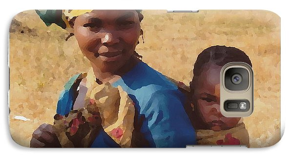 Galaxy Case featuring the photograph Mother And Child by Joyce Gebauer