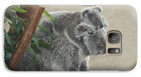 Galaxy Case featuring the photograph Mother And Child Koalas by John Telfer