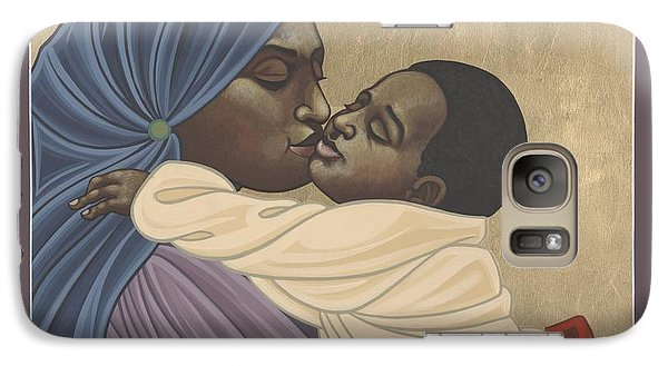 Galaxy Case featuring the painting Mother And Child Of Kibeho 131 by William Hart McNichols