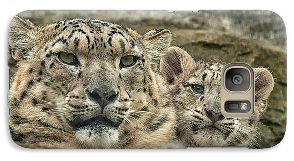 Galaxy Case featuring the photograph Mother And Cub by Chris Boulton