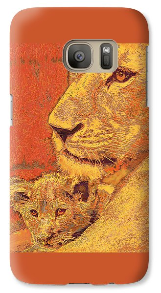 Mother And Cub Galaxy S7 Case by Jane Schnetlage