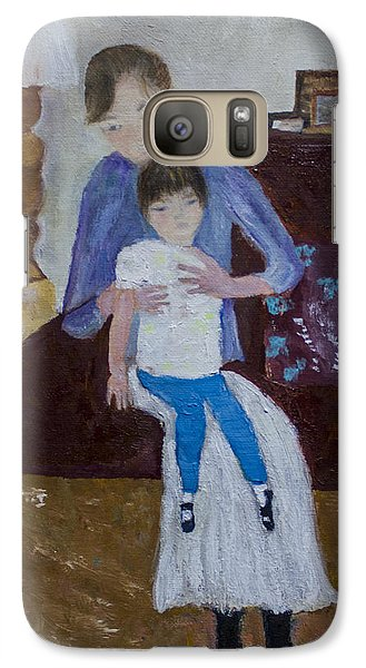 Galaxy Case featuring the painting Mother And Daughter by Aleezah Selinger