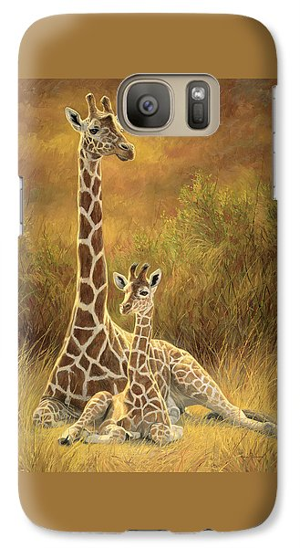 Cow Galaxy S7 Case - Mother And Son by Lucie Bilodeau