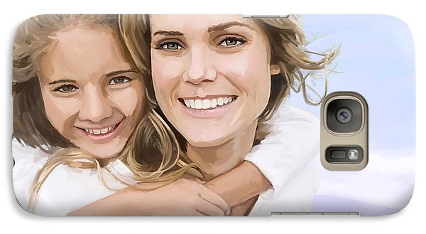 Galaxy Case featuring the painting Mother Daughter Portrait   by Tim Gilliland