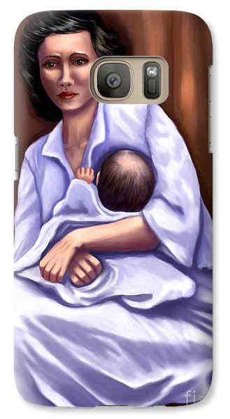 Galaxy Case featuring the painting Mother In Distress by Sena Wilson