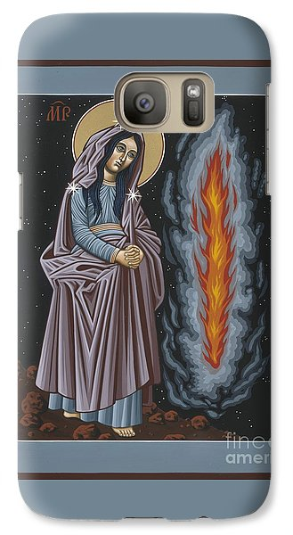 Galaxy Case featuring the painting Mother Of God Of Kosovo 087 by William Hart McNichols