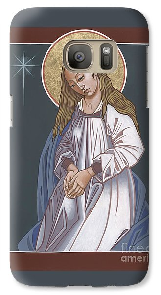 Galaxy Case featuring the painting Mother Of God Waiting In Adoration 248 by William Hart McNichols