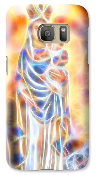 Galaxy Case featuring the painting Mother Of Light by Dave Luebbert