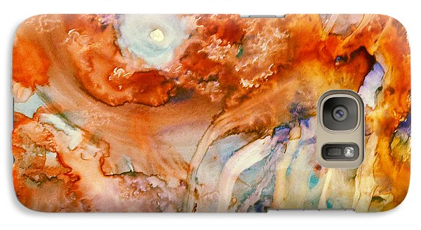 Galaxy Case featuring the painting Mother Of Pearl by  Heidi Scott