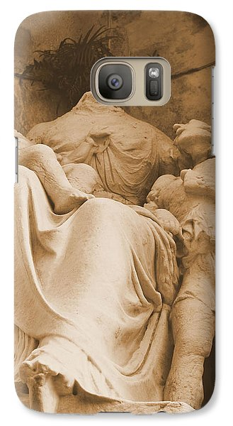 Galaxy Case featuring the photograph Mother With Children by Nadalyn Larsen
