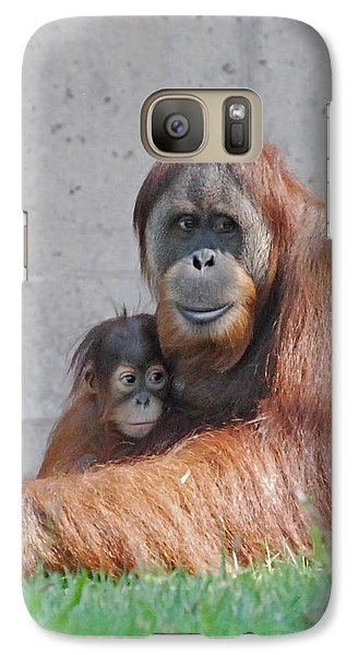 Galaxy Case featuring the photograph Mothers Care by Kathy Gibbons
