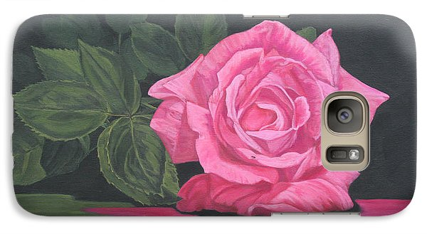 Galaxy Case featuring the painting Mothers Day Rose by Wendy Shoults