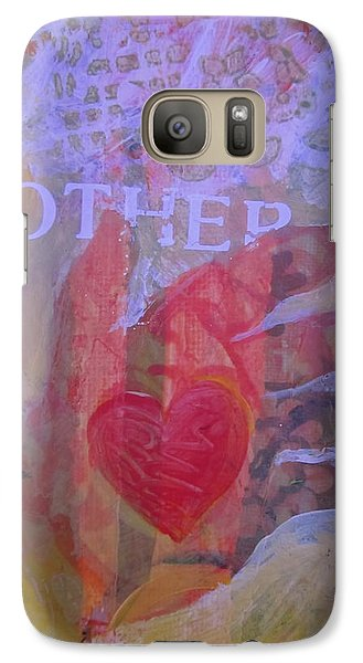 Galaxy Case featuring the painting Mother's Heart by Tilly Strauss