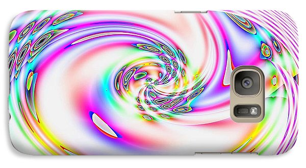 Galaxy Case featuring the digital art Mother's Love Modern Abstract Art by Annie Zeno
