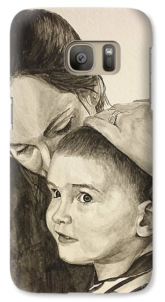 Galaxy Case featuring the painting Mother's Love by Tamir Barkan