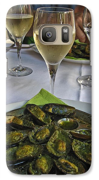 Galaxy Case featuring the photograph Moules And Chardonnay by Allen Sheffield