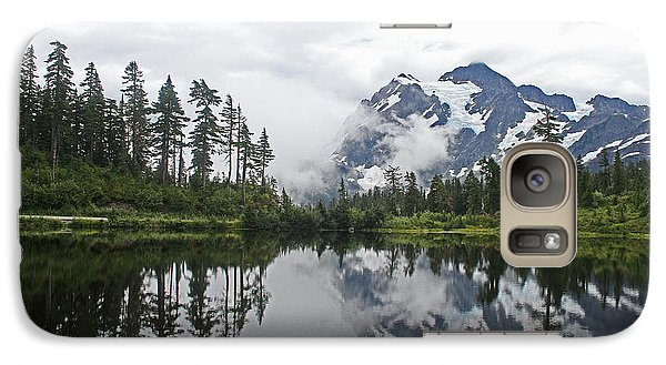 Galaxy Case featuring the photograph Mount Baker- Lake- Fir Trees And  Fog by Tom Janca