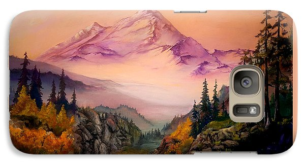 Galaxy Case featuring the painting Mount Baker Morning by Sherry Shipley