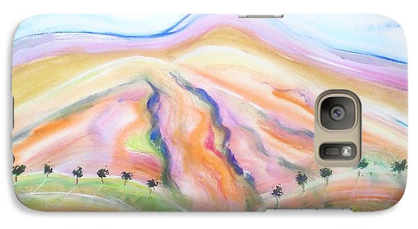 Galaxy Case featuring the painting Mount Diablo by Carol Duarte