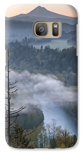 Galaxy Case featuring the photograph Mount Hood And Sandy River At Sunrise by JPLDesigns