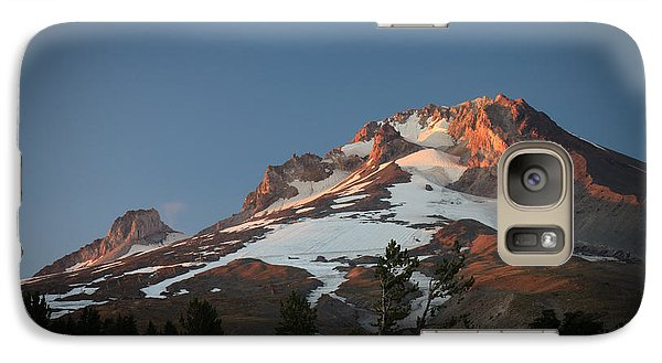 Galaxy Case featuring the photograph Mount Hood Summit In Warm Glow by Karen Lee Ensley