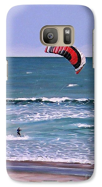 Galaxy Case featuring the painting Mount Maunganui 160308 by Sylvia Kula