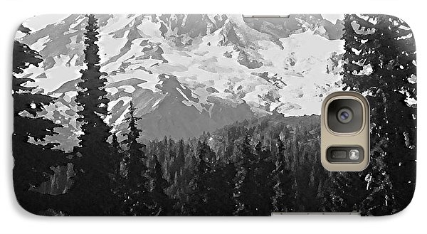 Galaxy Case featuring the photograph Mount Rainier by Ann Johndro-Collins